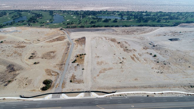 Oak View Group and the H.N. and Frances C. Berger Foundation announced their plans on September 16, 2020, to build a sports and entertainment arena on an unincorporated site north of Interstate 10. This drone photo shows the proposed site looking north with Classic Club.
