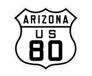 Arizona U.S. 80 highway sign.