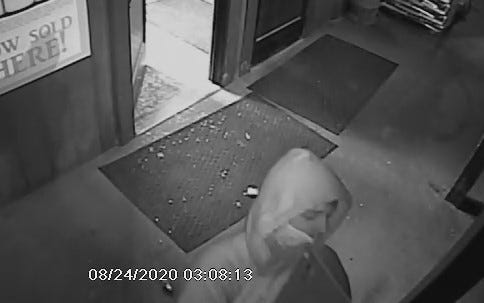 Surveillance footage from Trombley's Market, 12015 Bryce Road, on Aug. 24, 2020.