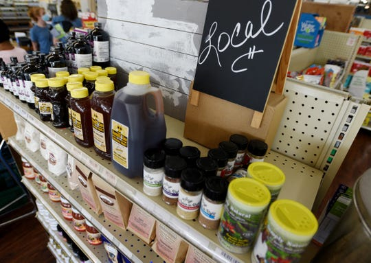 Local products and major brands are included in Sunshine Health Market and Cafe's inventory.