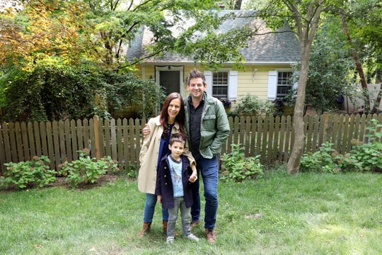 Elizabeth and Ethan Finkelstein, founders of cheapoldhouses.com and Cheap Old Houses on Instagram and Facebook, with their son Everett, 6, at home in Nyack Sept. 16, 2020. Cheap Old Houses features charming old houses across America for under $100,000 and their Instagram @CheapOldHouses has over 1.2M followers.