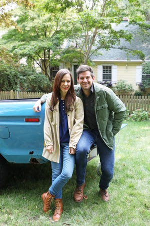 Elizabeth and Ethan Finkelstein, founders of cheapoldhouses.com and Cheap Old Houses on Instagram and Facebook, at home in Nyack, N.Y. in September. Cheap Old Houses features charming old houses across America for around $100,000 or less and their Instagram @CheapOldHouses has more than 1.3M followers.
