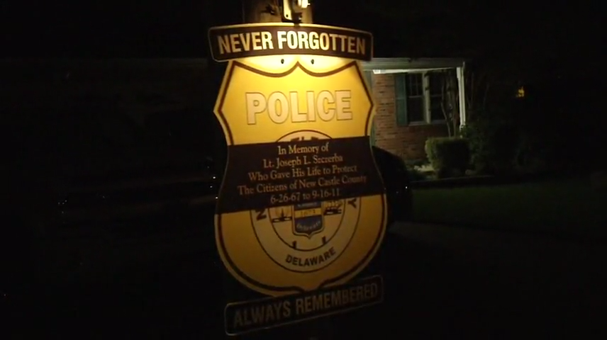 Memorial honors fallen New Castle County police officer