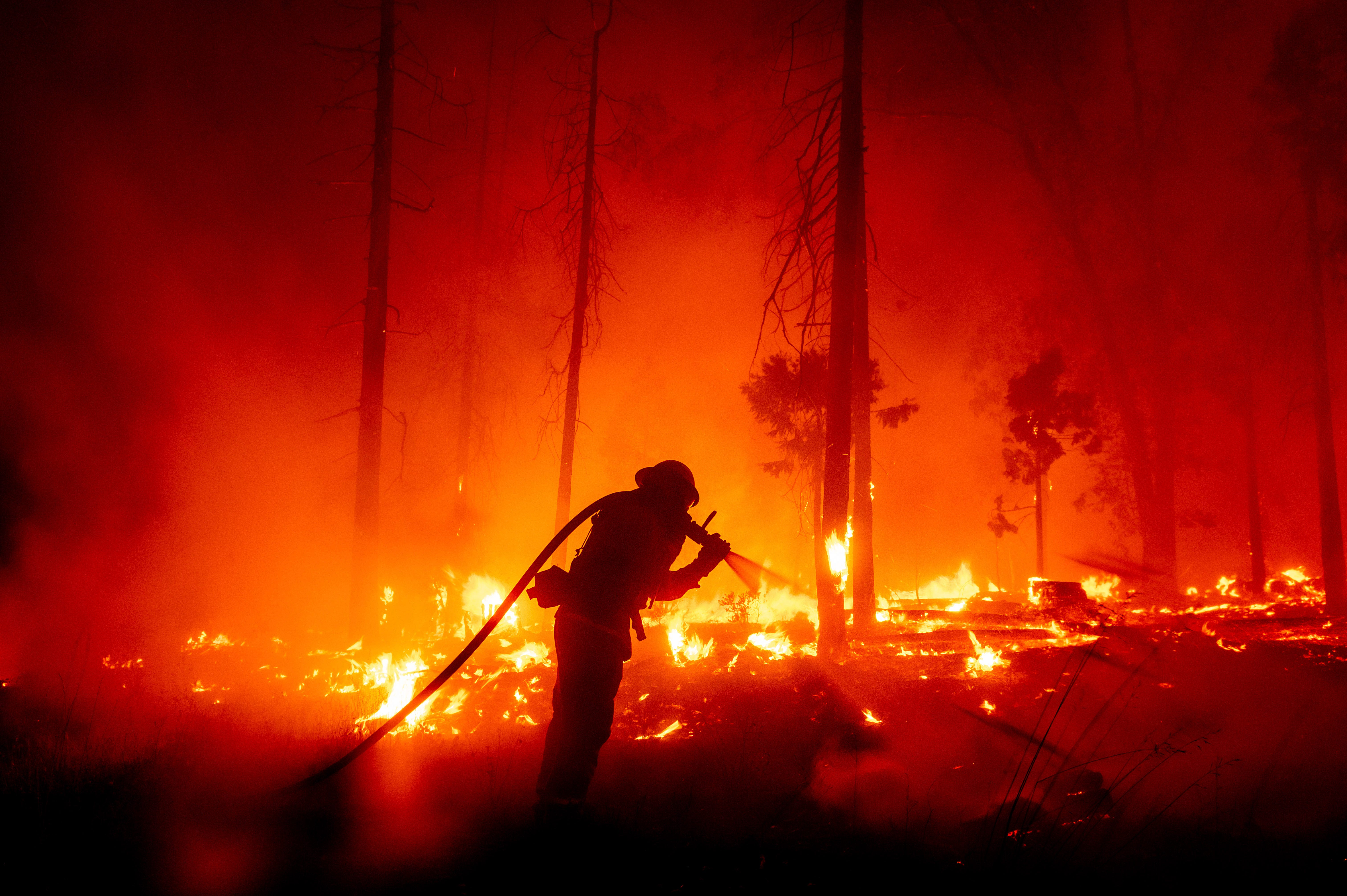 Firefighter in Madera County, Calif.