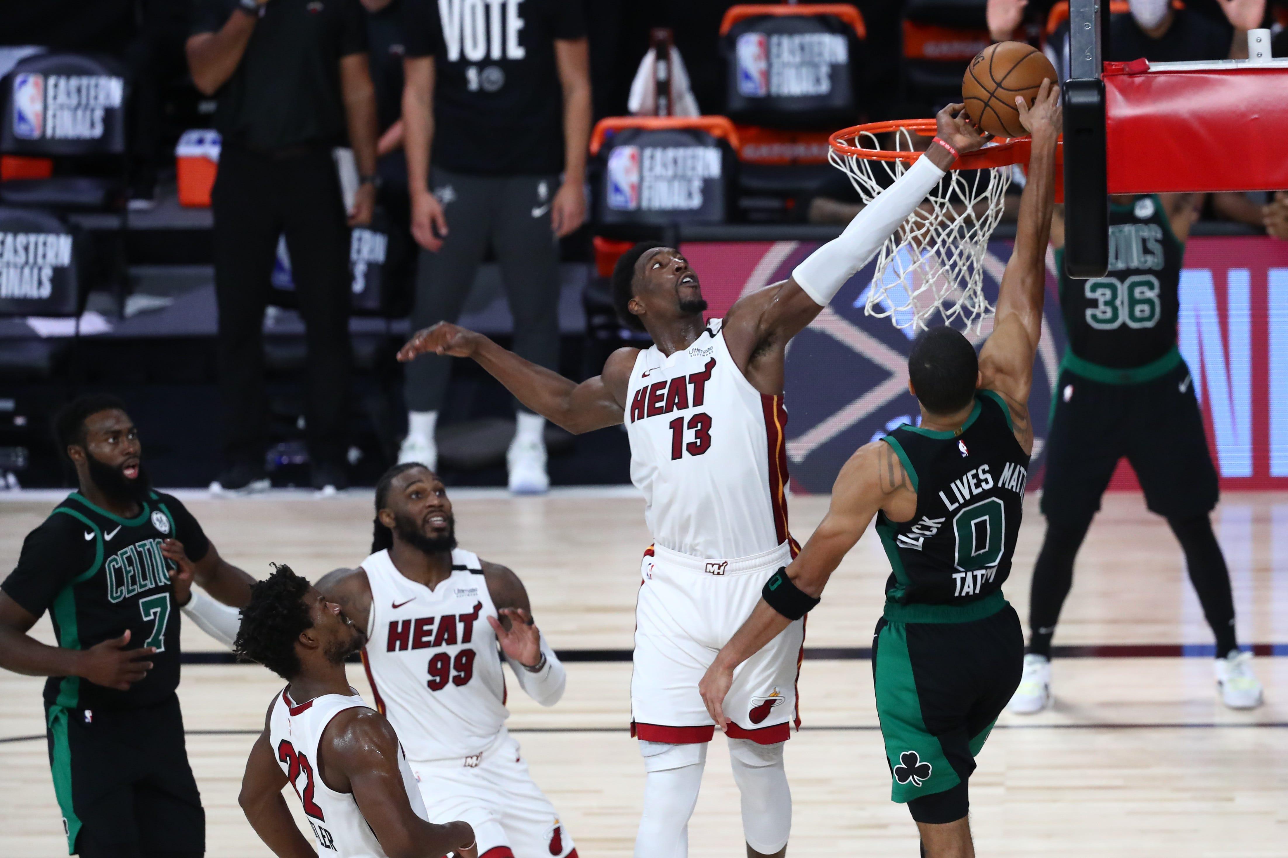 Miami Heat beat Boston Celtics in OT in Game 1 of East finals