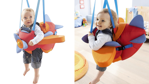 Best toys for babies: An airplane bouncer