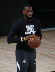 Lakers forward LeBron James has been outspoken on issues of equality and racial injustice.