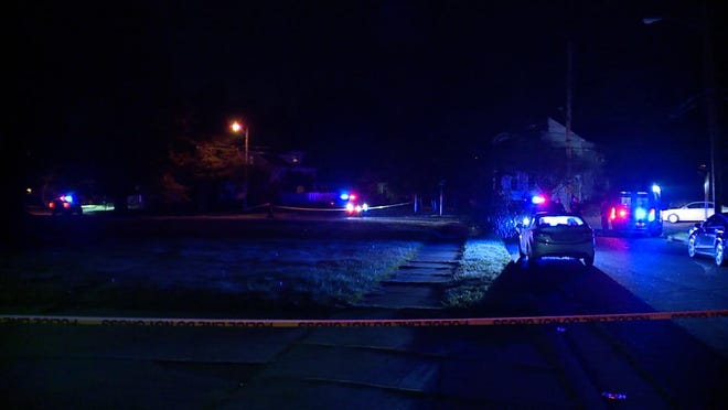 Police are investigating after a 23-year-old woman was shot in Akron Wednesday night [Mike Vielhaber, News 5 Cleveland]
