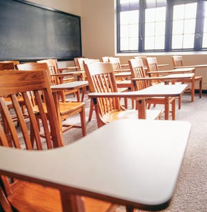 Classrooms have been empty this school year as students have been taking their classes online from home. [File photo]