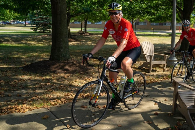 Malone University President David King was expected to ride his bicycle to raise money for student scholarships on Saturday. (Photo provided)