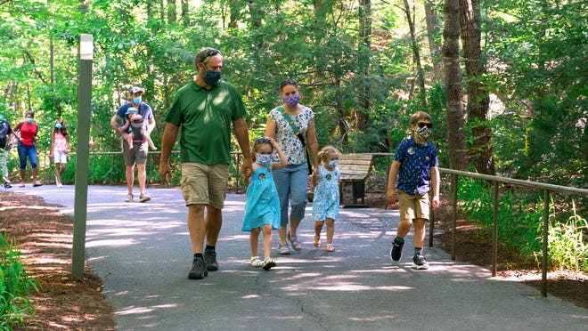 Visitors to the NC Zoo, since it reopened after being closed for health precautions during the coronavirus pandemic, are asked to wear a mask while at the zoo.