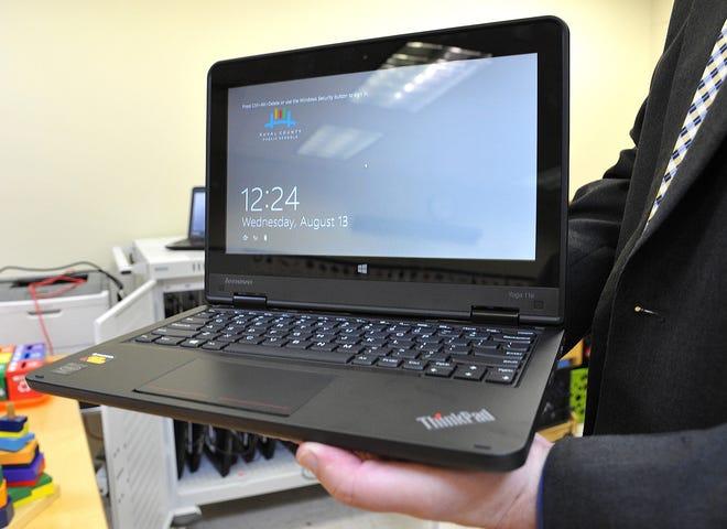 A file photo of a Duval County Public Schools laptop.