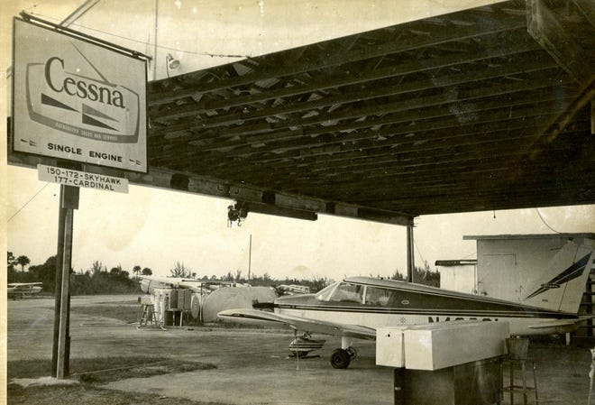 Feb. 1976: The former Palm Beach Gardens airport, before the present Palm Beach International Airport opened in 1994.