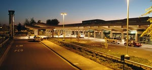 The Eugene Airport terminal