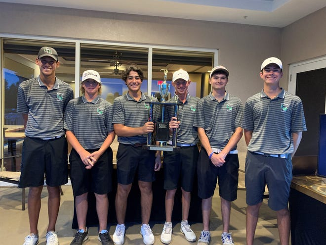 The Lakewood Ranch High boys golf team won the Manatee County Golf Championship on Wednesday at Tara Golf and Country Club with a 316.