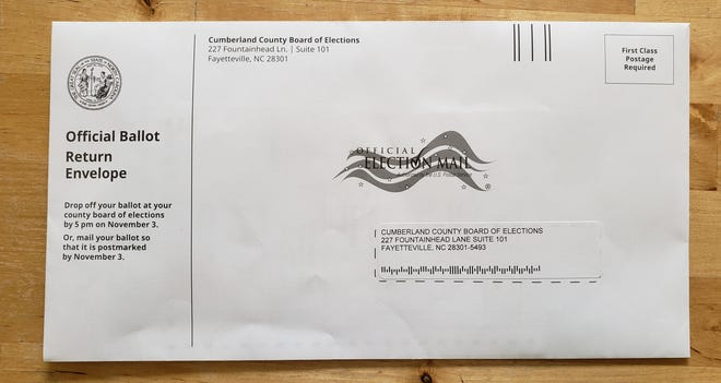 The Cumberland County Board of Elections began mailing absentee ballots to voters who requested them on Sept. 4. The filled-out ballots can be mailed back or physically returned to the board headquarters on Fountainhead Lane in downtown Fayetteville. Early, in-person voting begins on Oct. 15.