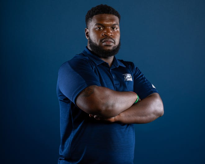 Georgia Southern's Elijah Campbell entered the transfer portal Tuesday, Sept. 15, 2020. Campbell is a former Gadsden City High School standout.