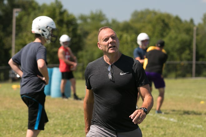 Warwick's Greg Sirico and high school football coaches pulled the plug on seven-on-seven flag football league, slated to start on Sept. 25. The decision cited concerns over slowing the return of students to schools. ALLYSE PULLIAM/FOR THE TIMES HERALD-RECORD