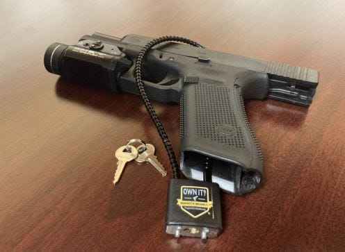 The Tuscaloosa Police Department has partnered with Project ChildSafe to distribute free firearm safety kits which include a cable-style gunlock and a firearms safety brochure.