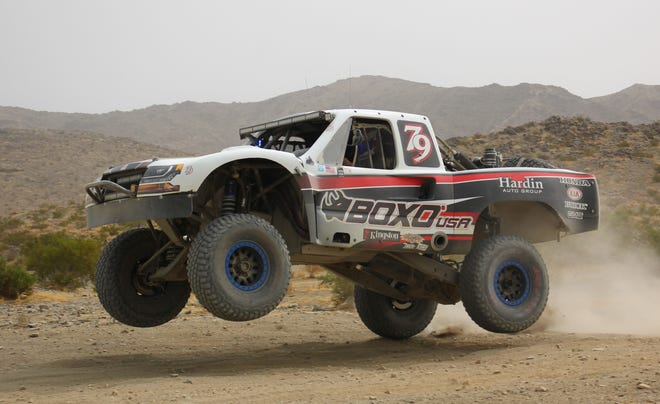 Eric Hardin was the overall champion at the Mojave Off Road Enthusiasts' PCI Racing Radios 300 in the Johnson Valley Off-Highway Recreation Area on Sept. 12.