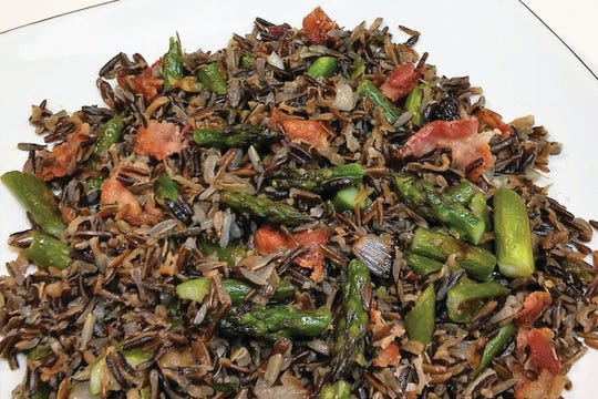 Barb Estabrook of Grand Chute is a finalist in the Minnesota Cultivated Wild Rice Council's contest with her recipe for Wild Rice 'N Roasted Asparagus.