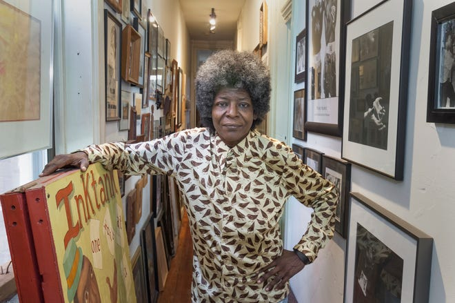 Writer and social commentator Kathy Y. Wilson, seen in her East Walnut Hills apartment.
