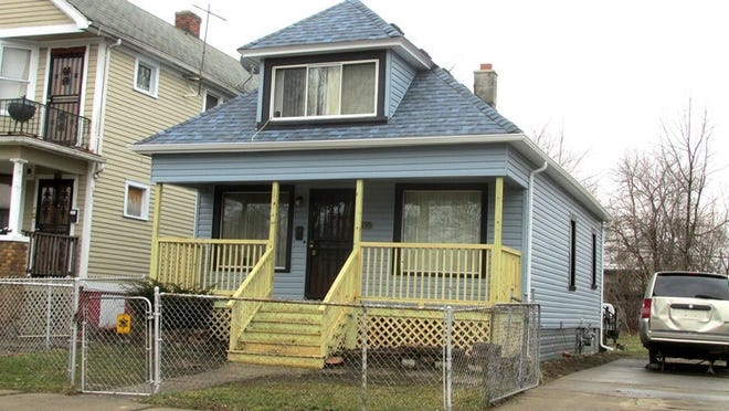 A home in Detroit's east side which received home repairs in February 2020 from the City of Detroit's Lead Prevention and Intervention Program.