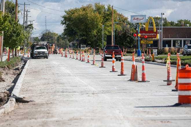 Road work on South Military Road near Seymour Street should be completed by mid-October, opening the busy street back up to motorists.
