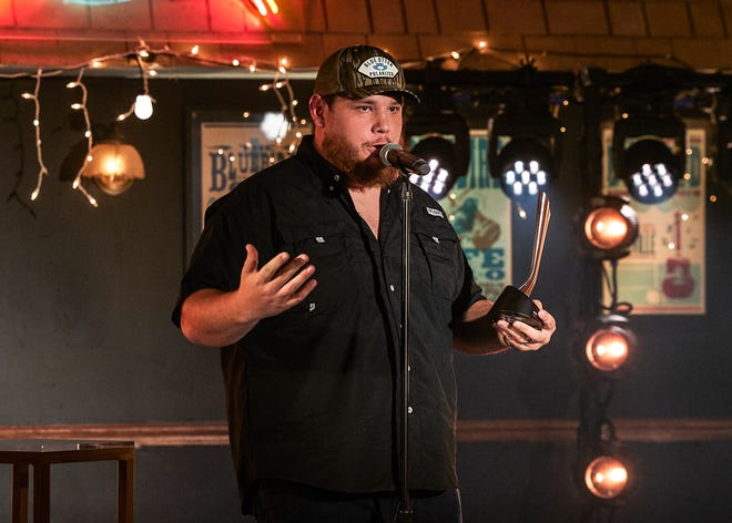 Luke Combs wins Album of the Year at the 55th Academy of Country Music Awards on Sept. 16, 2020.