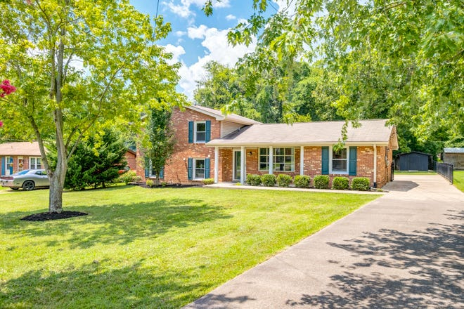 The home at 142 Gail Drive in Hendersonville is on a third of an acre and has an open floor plan with 1,825 square feet of living space.
