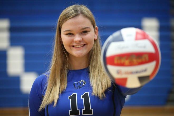 Oshkosh West volleyball's Morgan Yenter on Sept. 11 at Oshkosh West High School.