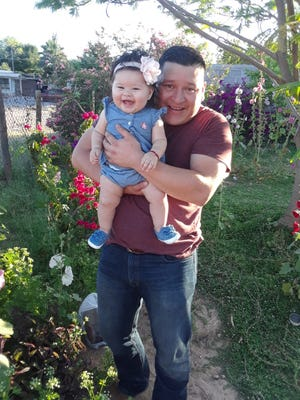 Salvador Valenzuela Carrizoza and his daughter.