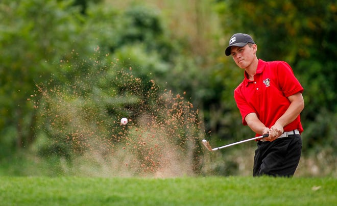Susquehannock's Sam Elsen, seen here in a file photo, fired a 2-over-par 72 on Tuesday in a York-Adams Division II match at Cool Creek Golf Club. He tied for individual medalist honors at the event.