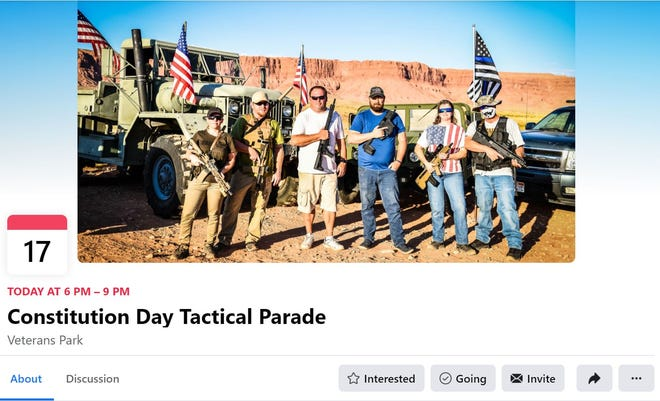 "An advocacy group based in Washington County was advertising a ""tactical parade"" through Washington City on Thursday as a way to celebrate Constitution Day."