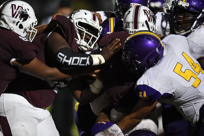 Fort Pierce Westwood and Fort Pierce Central high school's meet at Lawnwood Stadium on Wednesday, Sept. 16, 2020, for a game in Fort Pierce. Westwood won the game 49-0.