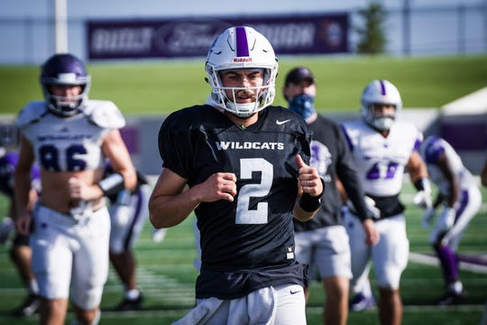Abilene Christian quarterback Peyton Mansell is a junior transfer from Iowa