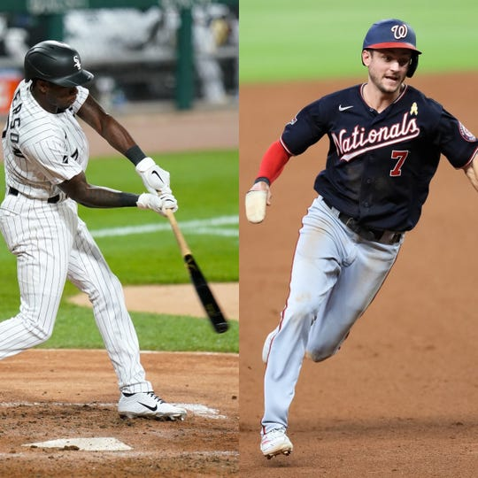 Chicago White Sox shortstop Tim Anderson (left) and Washington Nationals shortstop Trea Turner (right)