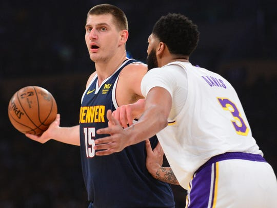 Nikola Jokic and the Nuggets lost three of four matchups against Anthony Davis and the Lakers during the regular season.
