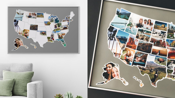 Best photo gifts of 2020: 50 States Map Photo Collage