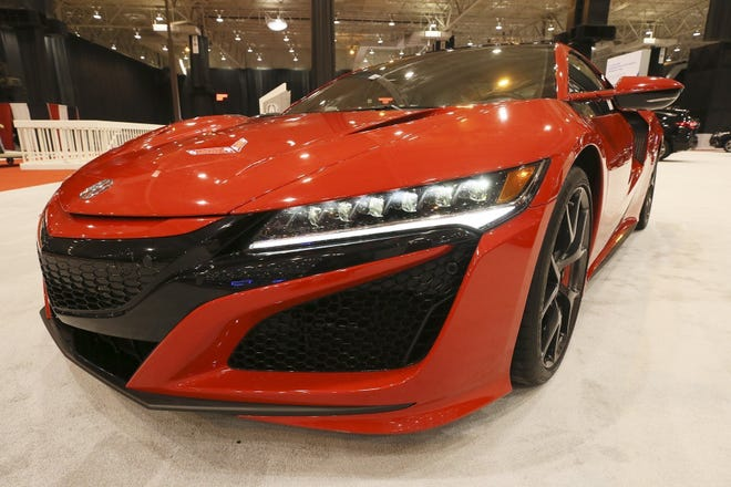 A 2020 Acura NSX at last year's Cleveland Auto Show at the IX Center.