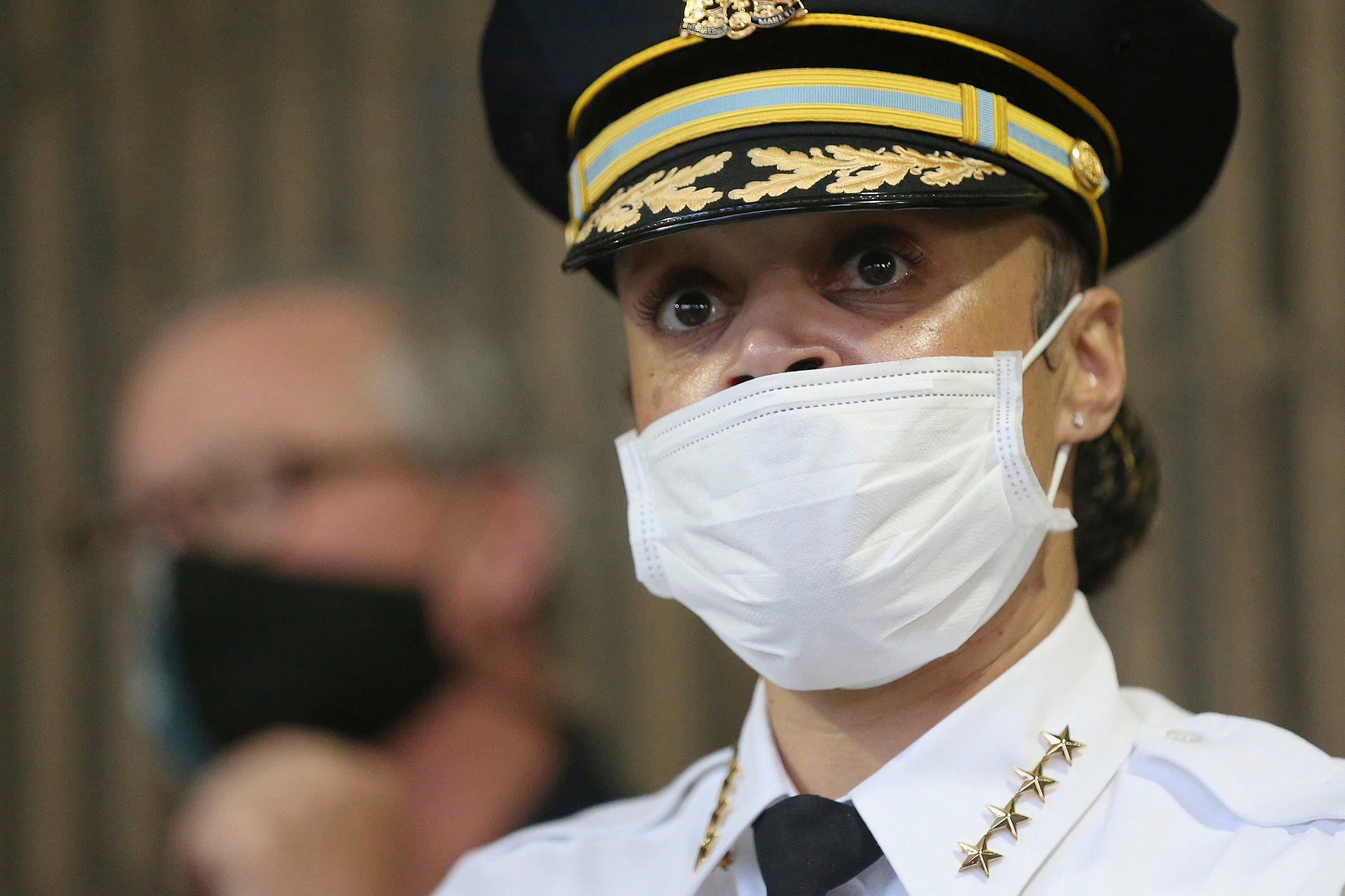 Danielle Outlaw is commissioner of the Philadelphia Police Department, which is among the whitest urban departments in the nation compared to the population it serves. Currently 57% of the 6,500 officers in the department are white, while the city population is 44% Black and 15% Hispanic.