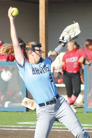 Allee Erne turned in a mighty performance in the pitching circle for Bartlesville High School during last week's Putnam City softball tourney.