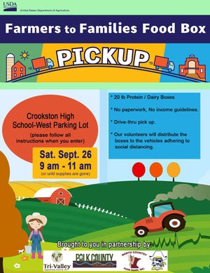 Here's the info for the second food box event in Crookston