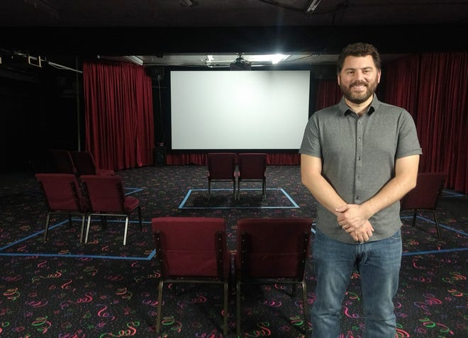 Neil Weakland has opened The Cut Cinema in the former Kathleen Howland Theatre at 324 Cleveland Ave. NW, Canton, which was for many years home to live theater performances. There are only 20 seats in the theater right now. In keeping with COVID-19 precautions, the chairs are spaced widely apart in pairs and masks are required.