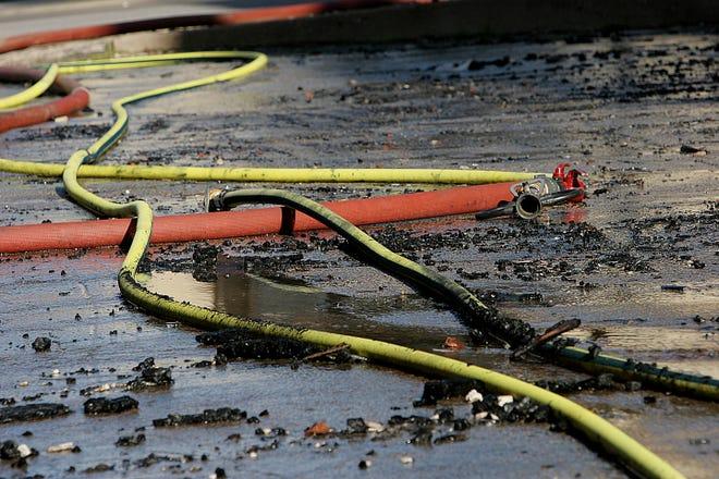 Fire hoses.