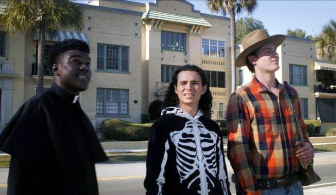 "Josue Charles (left), Blake Lafita and Jake Pearthree are the stars of ""A Day in the Life,"" an independent comedy film Pearthree and filmmaking partner Michael Pettit made in Jacksonville in March."