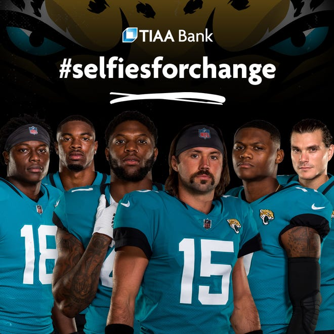 "TIAA Bank has launched ""Selfies for Change,"" a fundraiser for social justice organizations that calls on Jaguars fans to take virtual selfies with players."