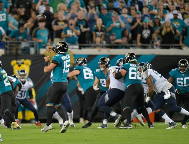 The Jaguars will try to end a six-game losing streak in Nashville, Tenn., Sunday when they play the Tennessee Titans at Nissan Stadium. Will Dickey/Florida Times-Union