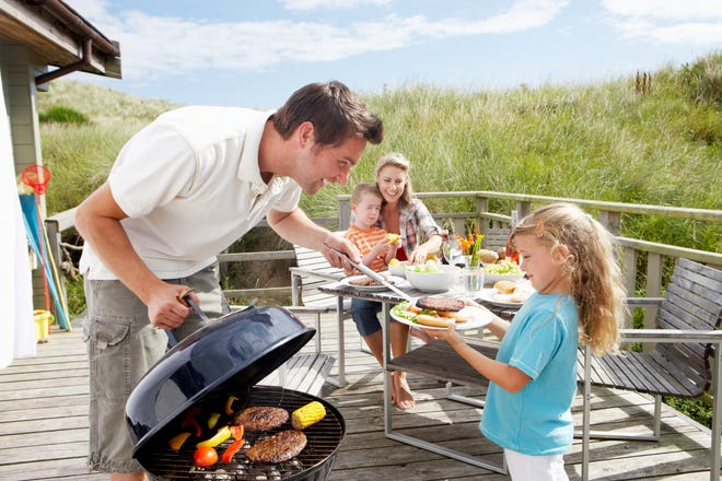A deck or patio are both great amenities in a coastal home