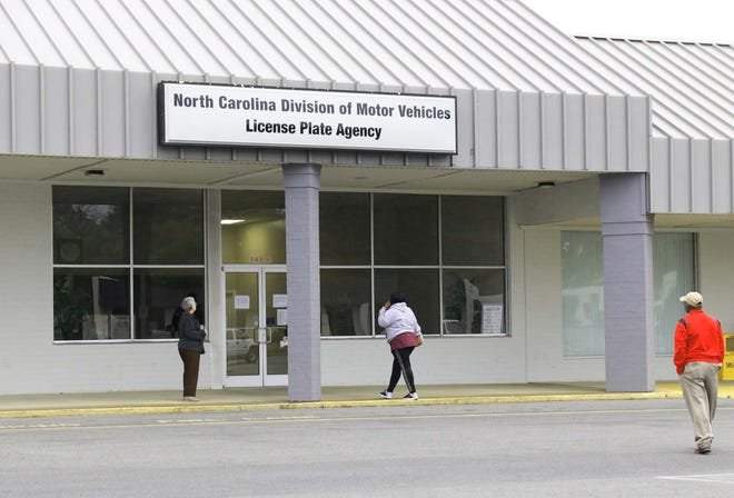 The North Carolina Division of Motor Vehicles License Plate Agency is located at  2431 N. Herritage St. in Kinston. [Brandon Davis/Kinston Free Press]